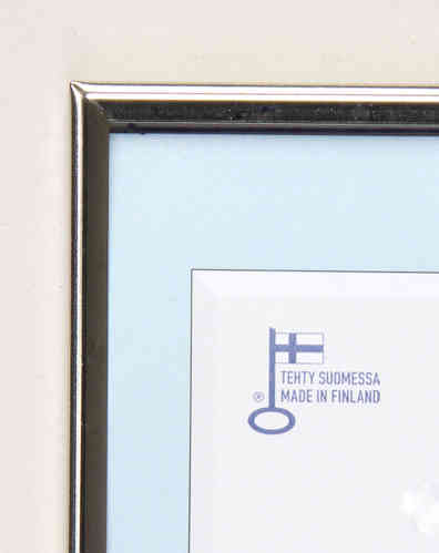 Silver polished photo frame
