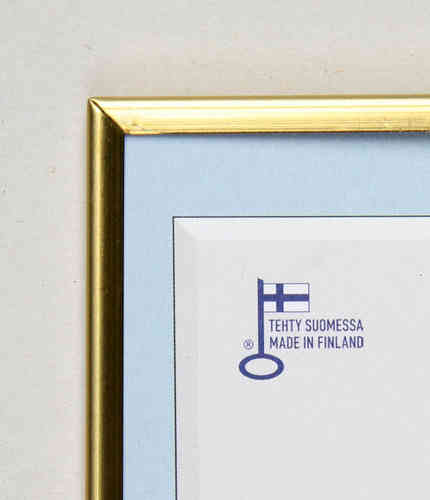 Polished gold photo frame