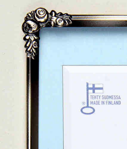 Silver rose photo frame