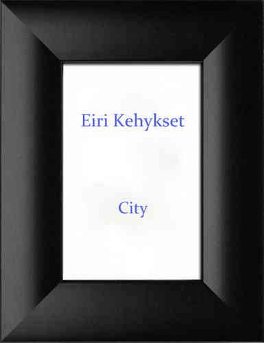 City wooden photo frame
